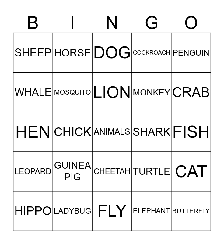 HAPPY EASTER! Bingo Card