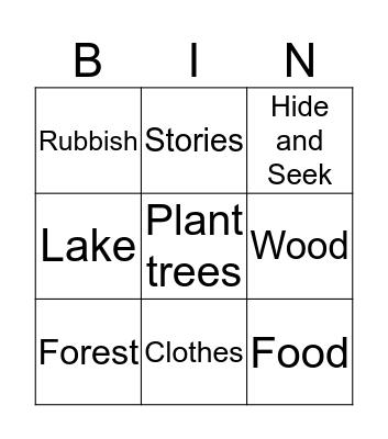 Camping! Bingo Card