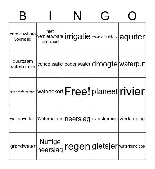 Blauwe planeet Bingo Card