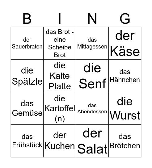 Das Essen Bingo Card
