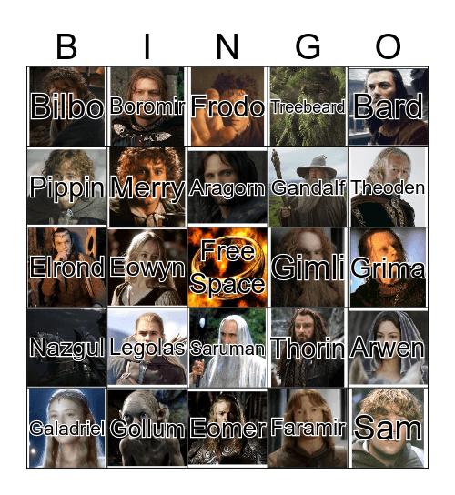 Middle-Earth Bingo Card