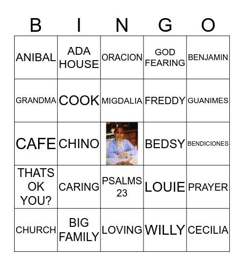 CECILIA'S 90TH CELEBRATION Bingo Card