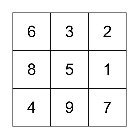 3*3 Bingo Card