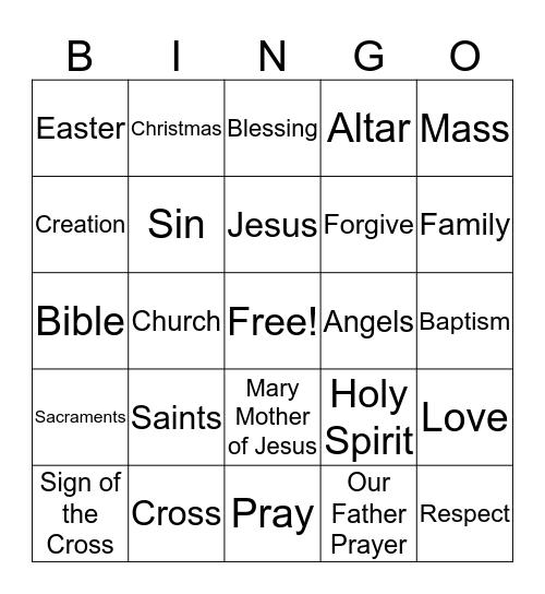 St. Bartholomew Bingo Card