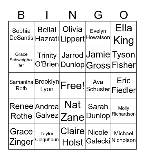 monster inc cast 2. Bingo Card