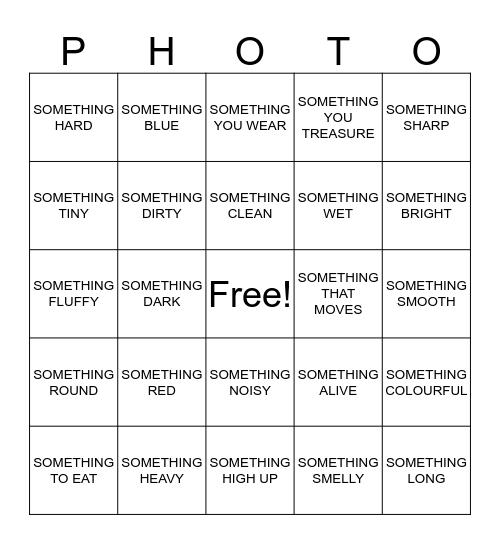 Photo Bingo Card