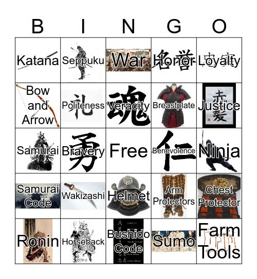 The Samurai Bingo Card