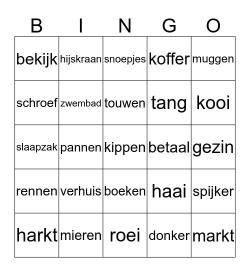 woordbingo kern 9 Bingo Card