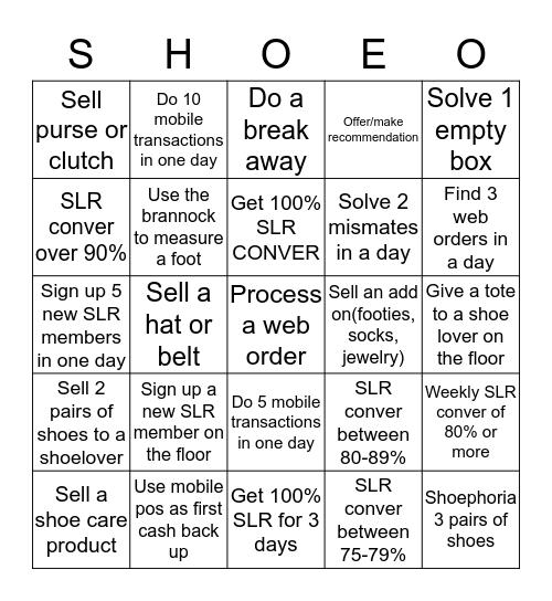 DSW  Bingo Card