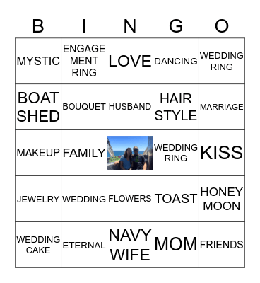 KAYLA'S MYSTIC WEDDING BINGO Card
