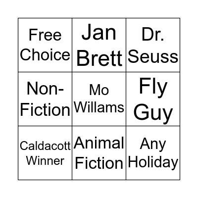 Super Reader Bingo Card