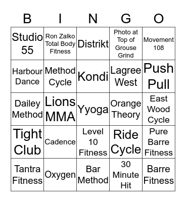 SWEATSY BETTSIES Bingo Card