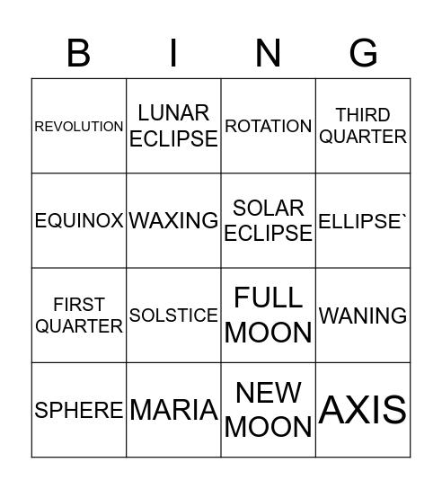 ESS CHAPTER 22 Bingo Card