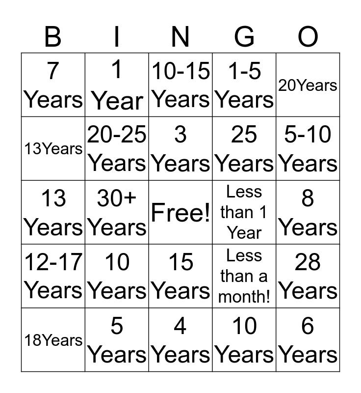 Tenure Statement Bingo! Bingo Card