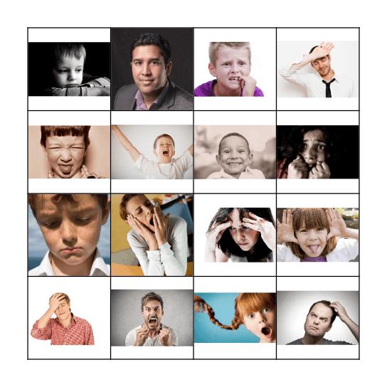 Facial Expression Bingo Card