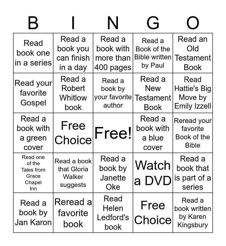 Adult Summer Reading Bingo Card
