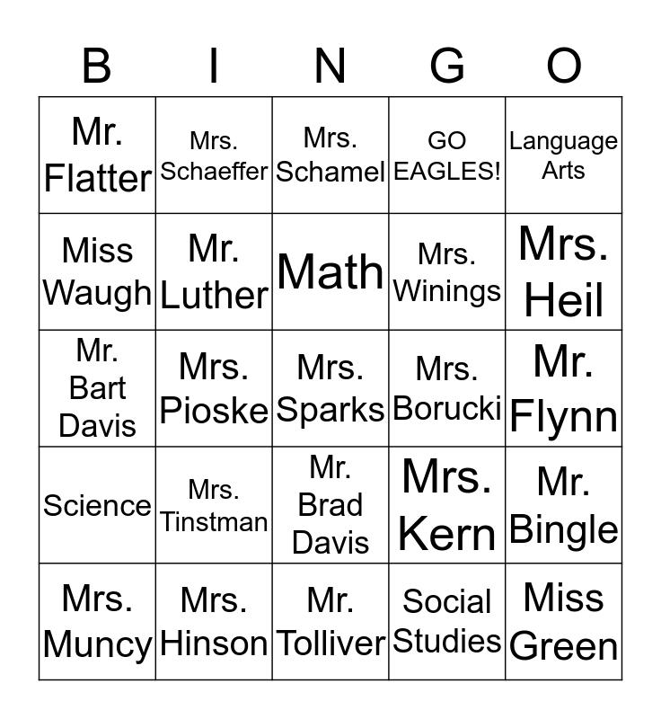 EMS Bingo Card