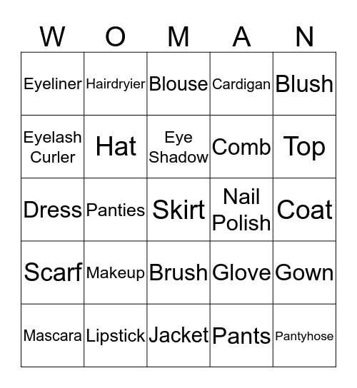 Happy Women's Day!!! Bingo Card