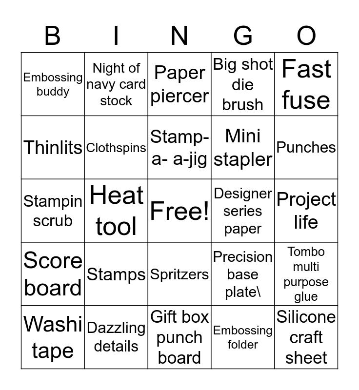 Stampin' Up! Bingo Card