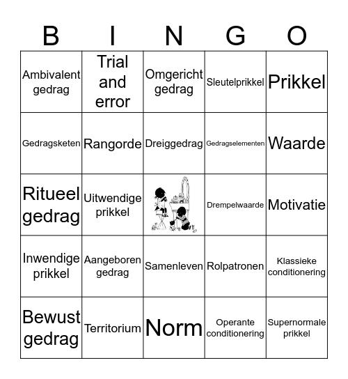 Hoofdstuk 1 Gedrag Bingo Card