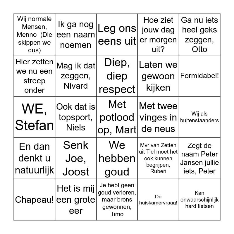 Mart Smeets Bingo Card
