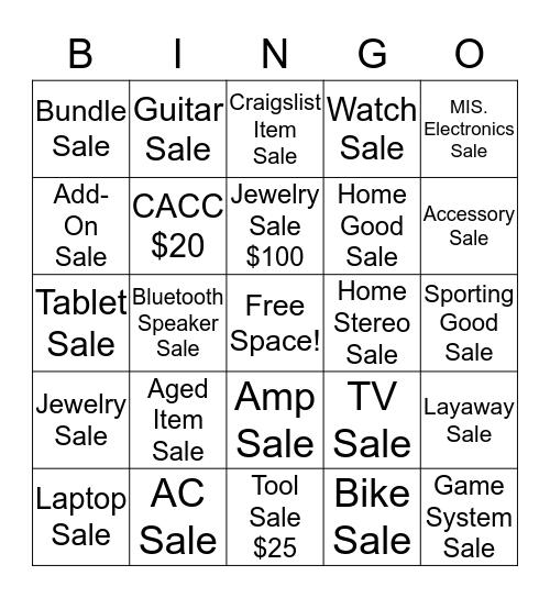 JUNE Bingo Card