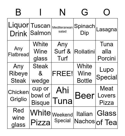 Lupo's Bingo #3 Bingo Card