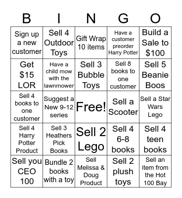 Kids Bingo Card