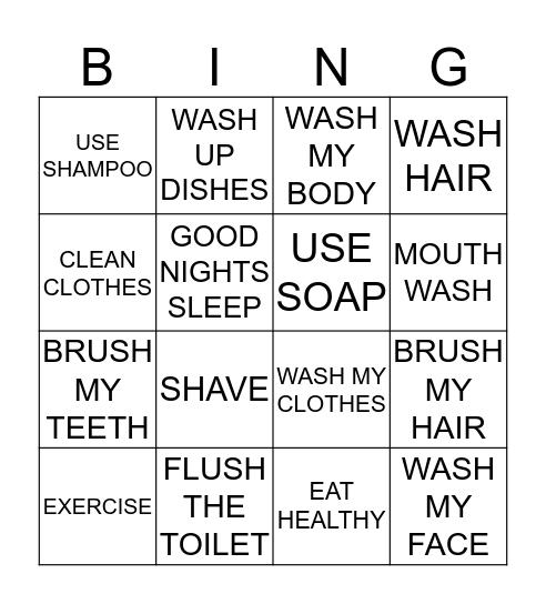 TAKING CARE OF MYSELF Bingo Card