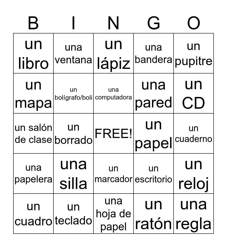 Los Objectos de la Clase Bingo Card