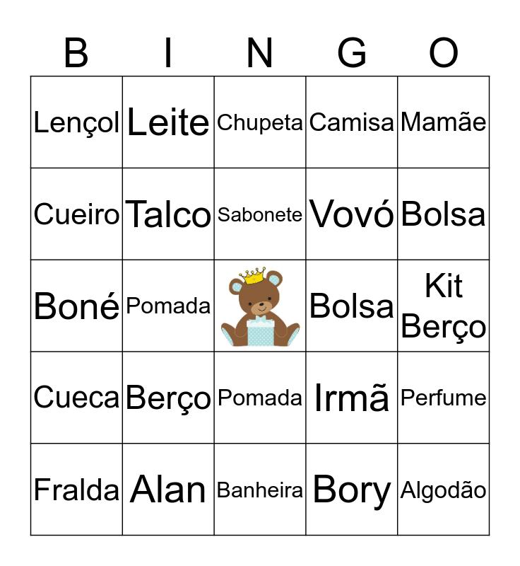 Bingo do Alan Bingo Card