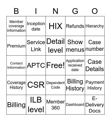 Systems  Bingo Card