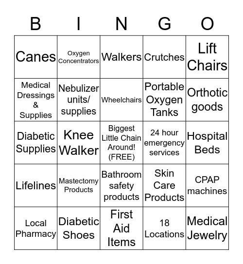 Boone Drug INC Bingo Card