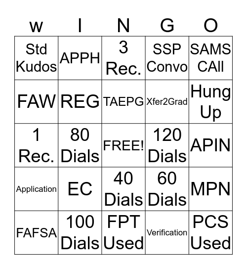 BLAZING DRAGONS Bingo Card