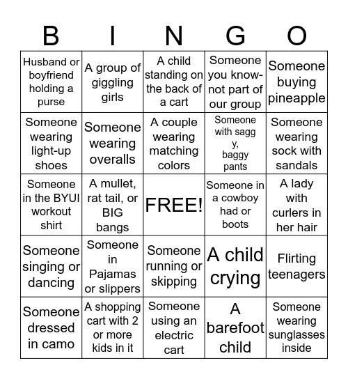 Broulims Bingo Card