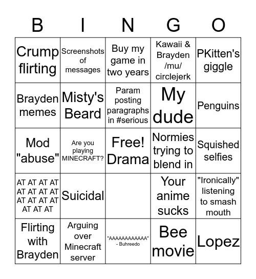 2meirl4meirl Discord Bingo Card