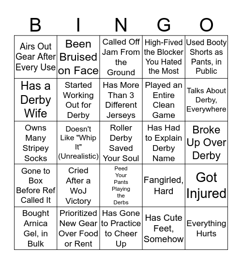 Draft Punk Bingo Card