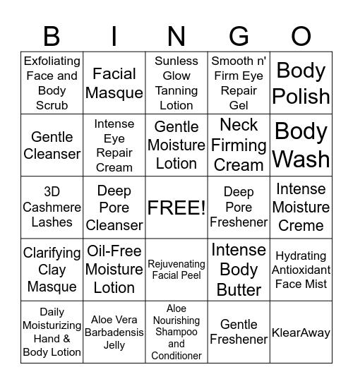 L'BRI BINGO! Bingo Card