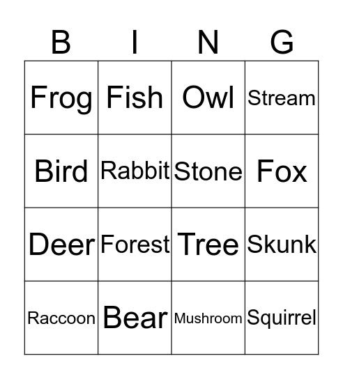 Martin Bingo Card