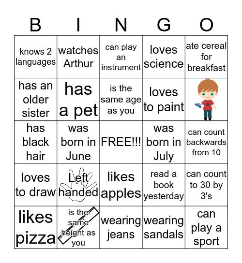 PEOPLE BINGO - Find someone who ... Bingo Card
