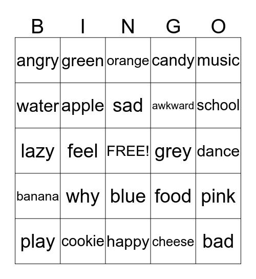 Sign Language Bingo! Bingo Card