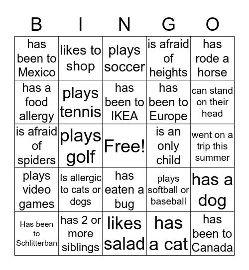 Business Blast 2016 Bingo Card