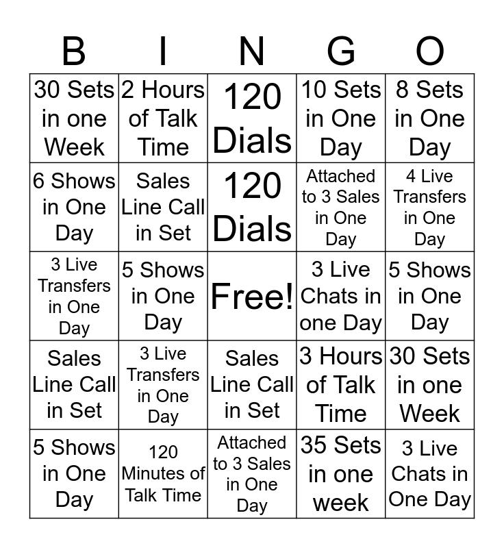 Account Developer Bingo  Bingo Card