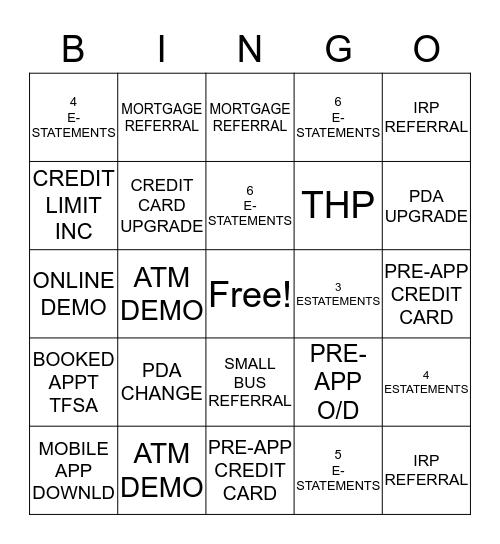 Success  Bingo Card
