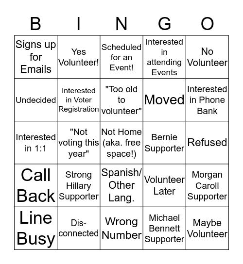 COLORADO DEMOCRATS BINGO! Bingo Card