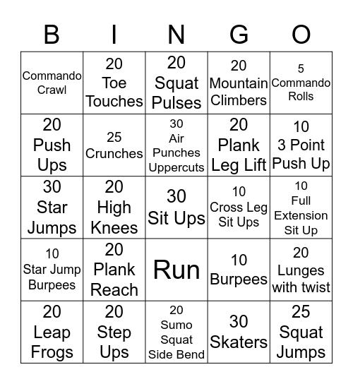 Kim'z Bootcamp Bingo  Bingo Card