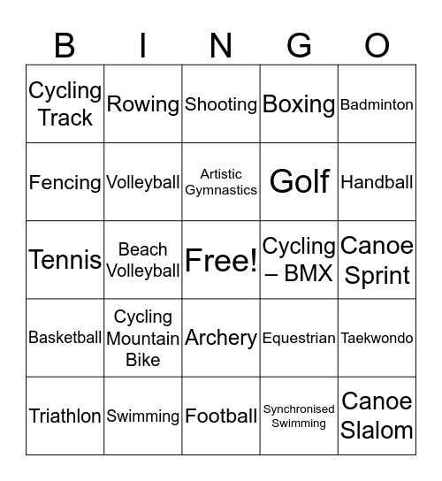 Olympic Bingo Card