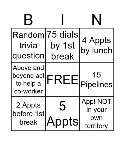 Stratus Bingo Card