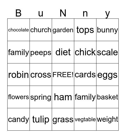 Plover Tops Club Bingo Card