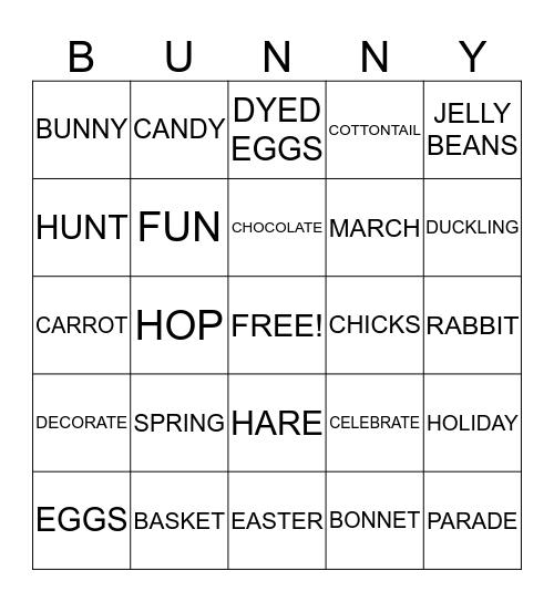 SPRING VACATION Bingo Card